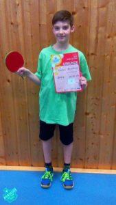 Thorben Bernsmann konnte sich über den 5. Platz, und somit die Qualifikation für den Kreisentscheid, in der Altersklasse der 11 bis 12-jährigen freuen. Foto: Stefan Laagland
